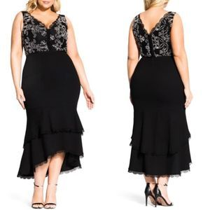 City Chic Sweet Occasion Maxi Dress Black 20